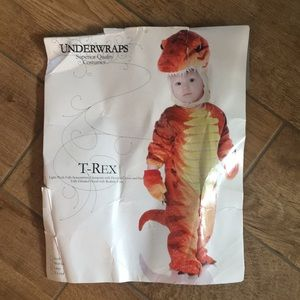 Kids Dinosaur costume fits approximately a 2t/3t